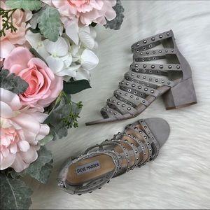 Steve Madden Maina Studded Caged Sandals Size 9